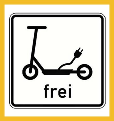 E-Scooter frei (Neue Tafel)