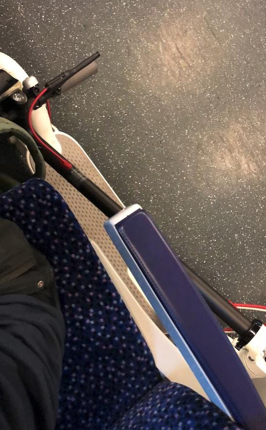 Xiaomi M365 in der Bahn