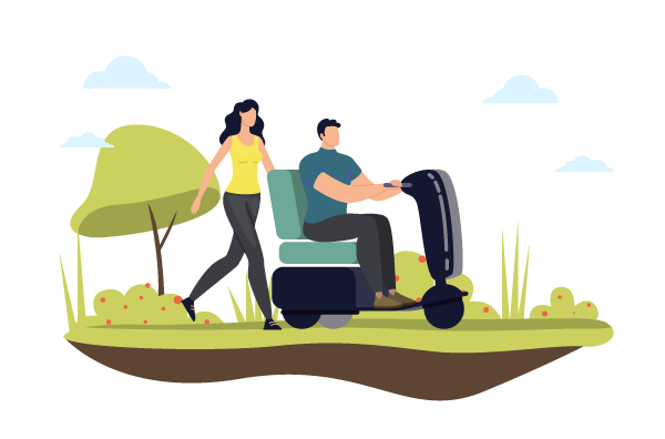 Elektromobile für Senioren Illustration